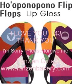 Poster: I LOVE YOU  143 THANK YOU  I'm Sorry  Please forgive me  FunZen Girls  www.funzenbakery.com