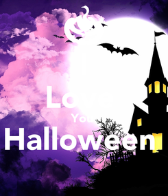 Poster: I Love  You  Halloween