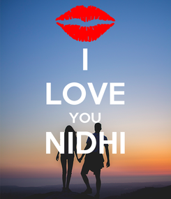 Poster: I LOVE YOU NIDHI