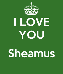 Poster: I LOVE YOU  Sheamus