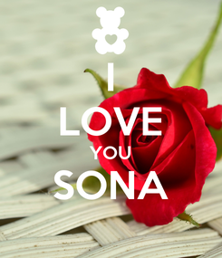 Poster: I LOVE YOU SONA