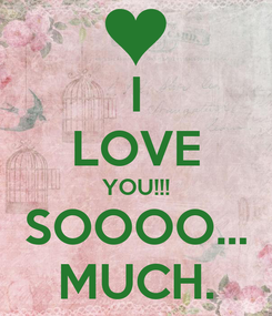 Poster: I LOVE YOU!!! SOOOO... MUCH.