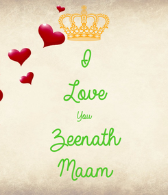 Poster: I Love You Zeenath Maam