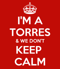 Poster: I'M A TORRES & WE DON'T KEEP  CALM