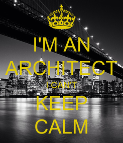 Poster: I'M AN ARCHITECT I CAN'T KEEP CALM
