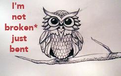Poster:    I'm    not broken*    just   bent