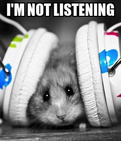 Poster: I'M NOT LISTENING