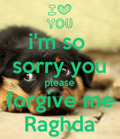 Poster: i'm so  sorry you please forgive me Raghda