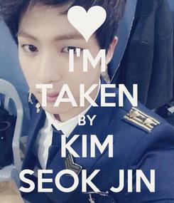 Poster: I'M TAKEN BY KIM SEOK JIN
