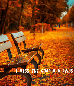 Poster: i miss the good old days