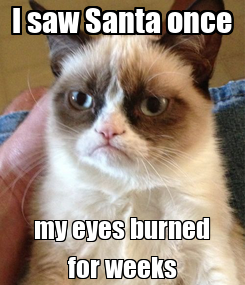 Poster: I saw Santa once my eyes burned for weeks