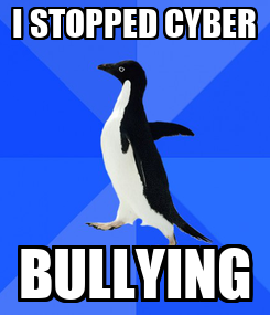 Poster: I STOPPED CYBER BULLYING