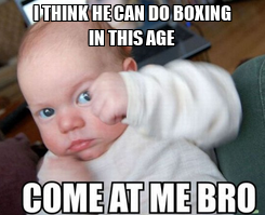 Poster: I THINK HE CAN DO BOXING IN THIS AGE