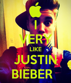 Poster: I VERY LIKE JUSTIN BIEBER