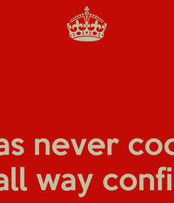 Poster:    I was never cocky  Just all way confident