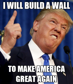 Poster: I WILL BUILD A WALL TO MAKE AMERICA GREAT AGAIN