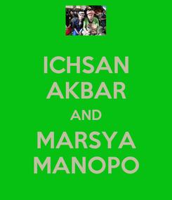 Poster: ICHSAN AKBAR AND MARSYA MANOPO