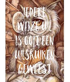 Poster: Iedere wijze uil is ooit een uilskuiken geweest