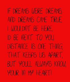 Poster: IF DREAMS WERE DREAMS,