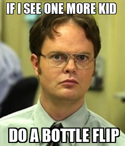 Poster: IF I SEE ONE MORE KID   DO A BOTTLE FLIP