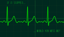Poster: IF IT STOPPED........                             ........ WOULD YOU MISS ME?