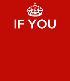 Poster: IF YOU