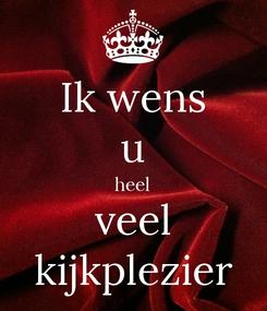 Poster: Ik wens u heel veel kijkplezier