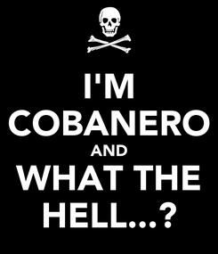Poster: I'M COBANERO AND WHAT THE HELL...?