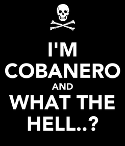 Poster: I'M COBANERO AND WHAT THE HELL..?