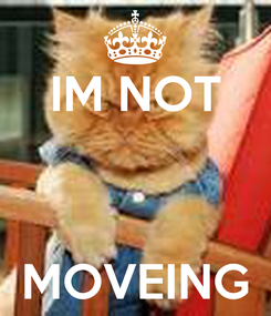 Poster: IM NOT    MOVEING