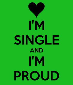 Poster: I'M SINGLE AND I'M PROUD