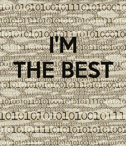 Poster: I'M THE BEST