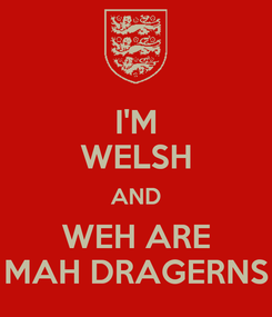 Poster: I'M WELSH AND WEH ARE MAH DRAGERNS