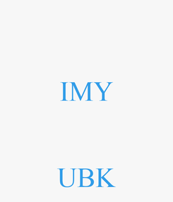 Poster:  IMY   UBK