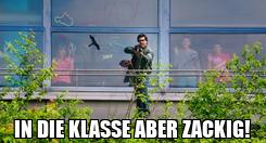 Poster:  IN DIE KLASSE ABER ZACKIG!