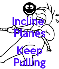 Poster: Incline  Planes : Keep Pulling