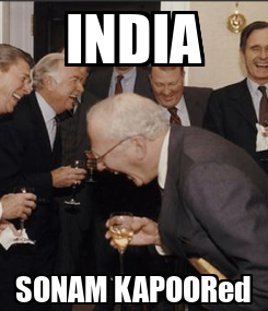 Poster: INDIA SONAM KAPOORed