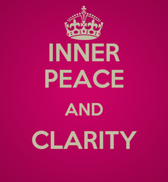 Poster: INNER PEACE AND CLARITY