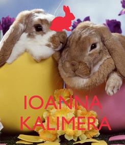 Poster:        IOANNA   KALIMERA