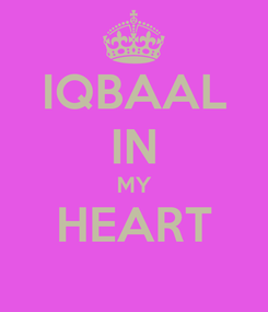 Poster: IQBAAL IN MY HEART