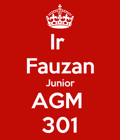 Poster: Ir  Fauzan Junior AGM  301