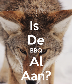 Poster: Is  De BBQ Al Aan?