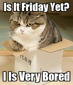 Poster: Is It Friday Yet? I Is Very Bored