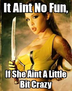 Poster: It Aint No Fun, If She Aint A Little Bit Crazy