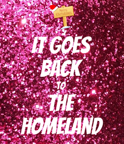 Poster: It goes back to  the homeland