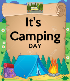 Poster: It's  Camping DAY