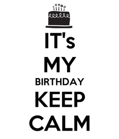 Poster: IT's MY BIRTHDAY KEEP CALM