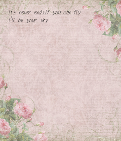 Poster: It's never ends.If you can fly I'll be your sky.