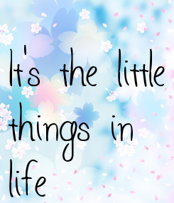 Poster: It's the little