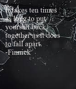 Poster: It takes ten times 